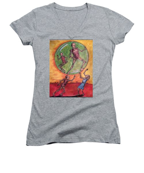 The Secret People Women's V-Neck T-Shirt