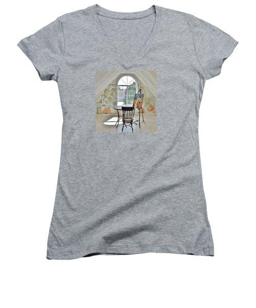 The Secret Room Women's V-Neck T-Shirt