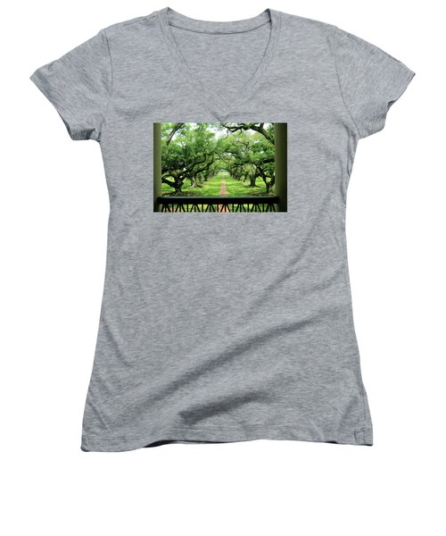 The Shade Of The Oak Tree Women's V-Neck (Athletic Fit)