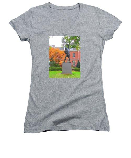 The Signer Women's V-Neck T-Shirt (Junior Cut) by J R Seymour