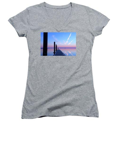 The Silent Man Women's V-Neck T-Shirt