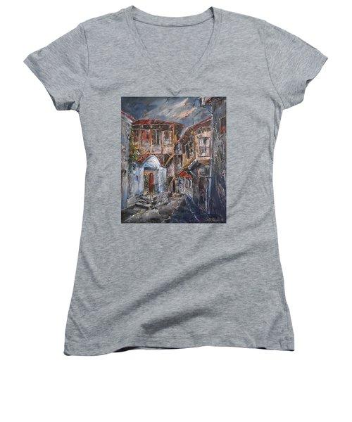 The Silent Street Iv Women's V-Neck T-Shirt