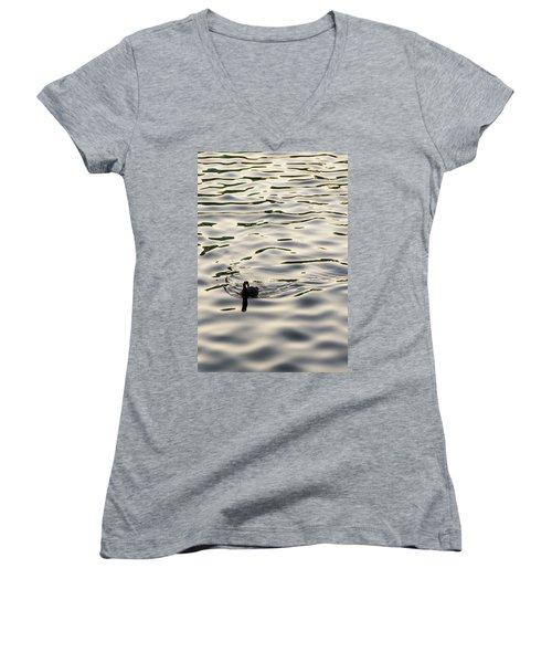 The Simple Life Women's V-Neck T-Shirt (Junior Cut) by Alex Lapidus
