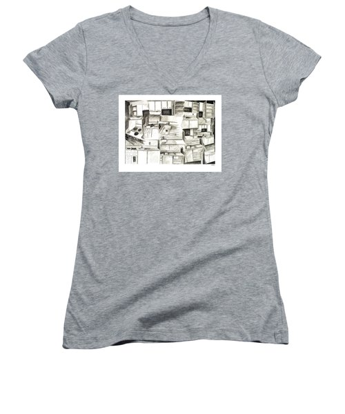The Sink Exploded Women's V-Neck T-Shirt