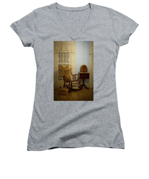 The Sitting Place Women's V-Neck (Athletic Fit)