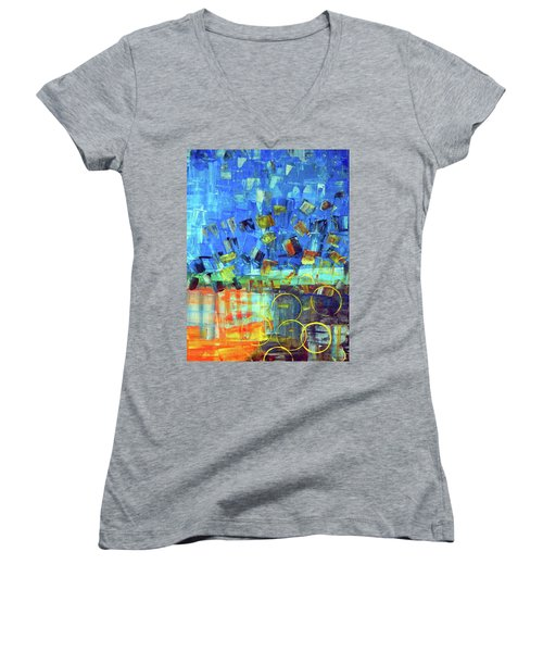 The Sky Fell Women's V-Neck (Athletic Fit)