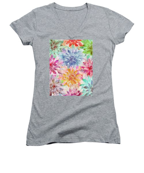 The Smell Of Spring 3 Women's V-Neck (Athletic Fit)