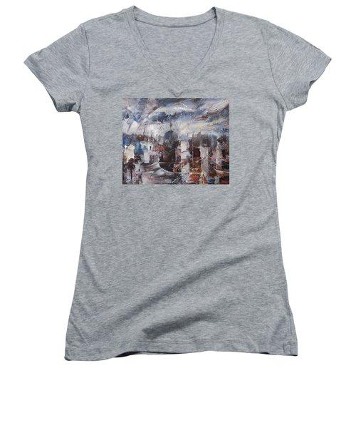 The Somnolent City Vi Women's V-Neck T-Shirt