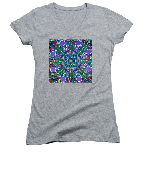 The Sound Of A Germinating Seed Women's V-Neck T-Shirt