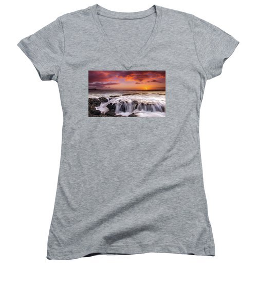 The Sound Of The Sea Women's V-Neck T-Shirt (Junior Cut) by James Roemmling