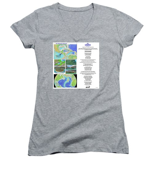 The Spirit Of Atlantis Poem Women's V-Neck (Athletic Fit)