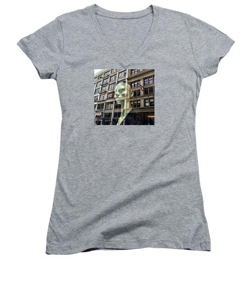 The Spirit Of San Francisco Women's V-Neck T-Shirt