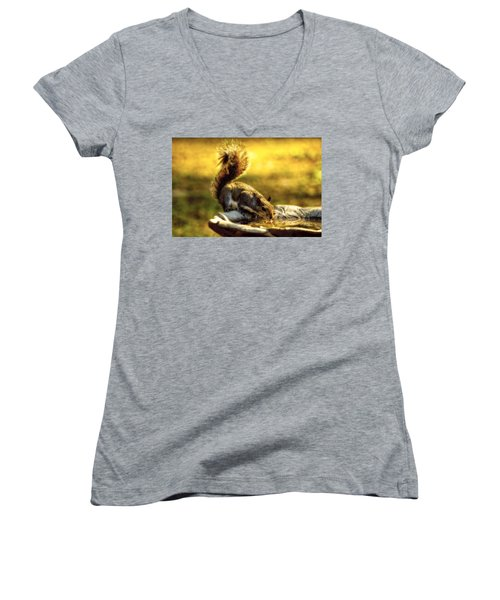 The Squirrel Women's V-Neck