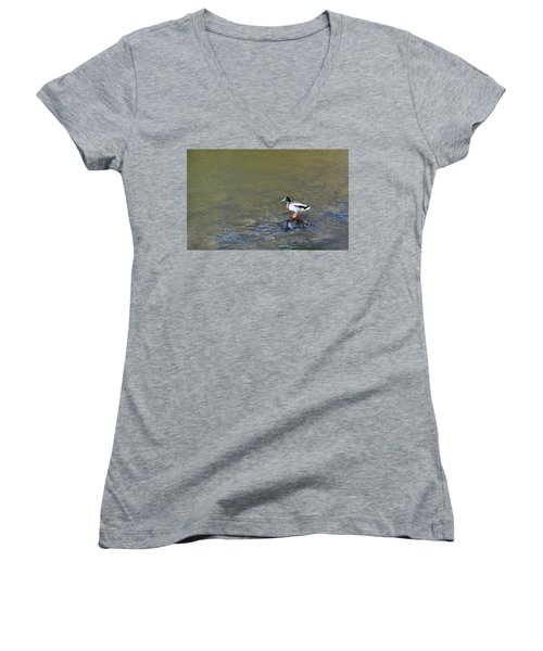 The Standing Duck Women's V-Neck (Athletic Fit)