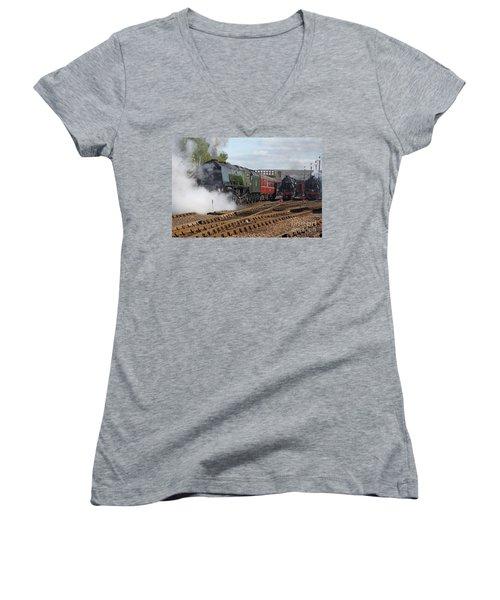 The Steam Railway Women's V-Neck