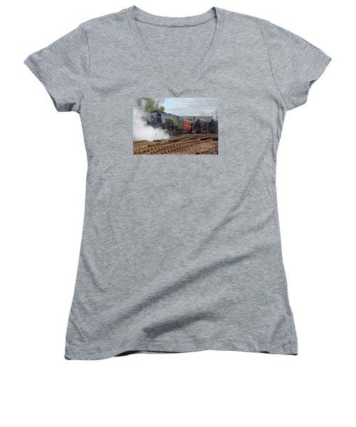The Steam Railway Women's V-Neck T-Shirt