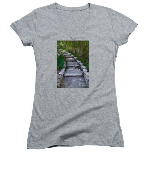 The Steps Women's V-Neck T-Shirt