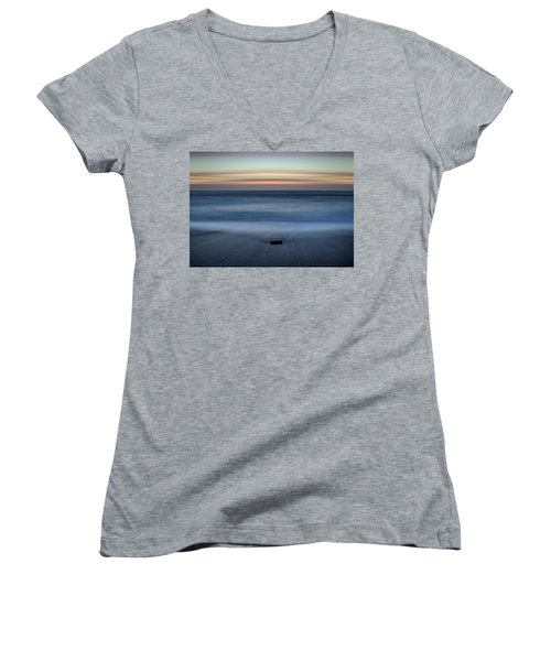 The Stone And The Sea Women's V-Neck (Athletic Fit)