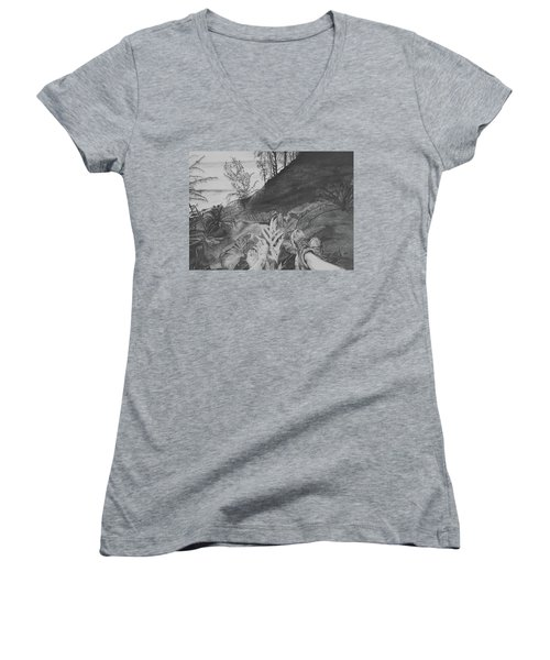 The Summit Women's V-Neck T-Shirt (Junior Cut) by Jane Autry