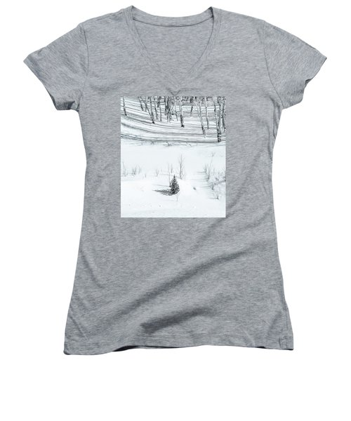 The Supreme Happiness In Life Is The Conviction That We Are Loved.  Women's V-Neck (Athletic Fit)