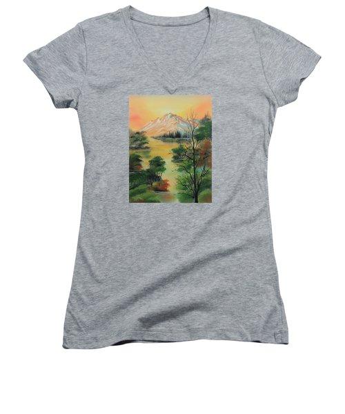 The Swamp 2 Women's V-Neck T-Shirt (Junior Cut) by Remegio Onia