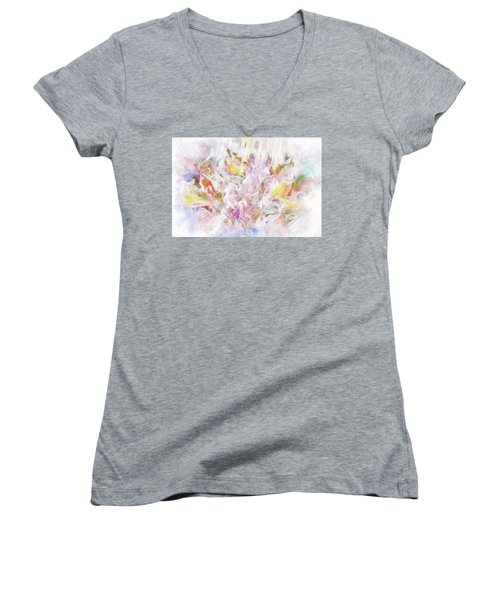 The Tender Compassions Of God Women's V-Neck T-Shirt (Junior Cut) by Margie Chapman