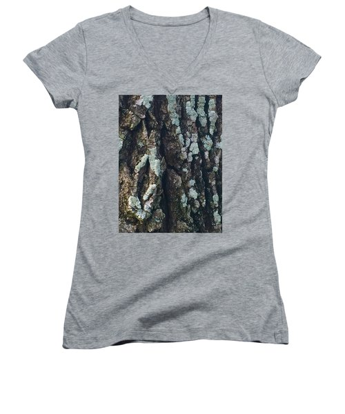 The Texture Is In The Trees1 Women's V-Neck T-Shirt