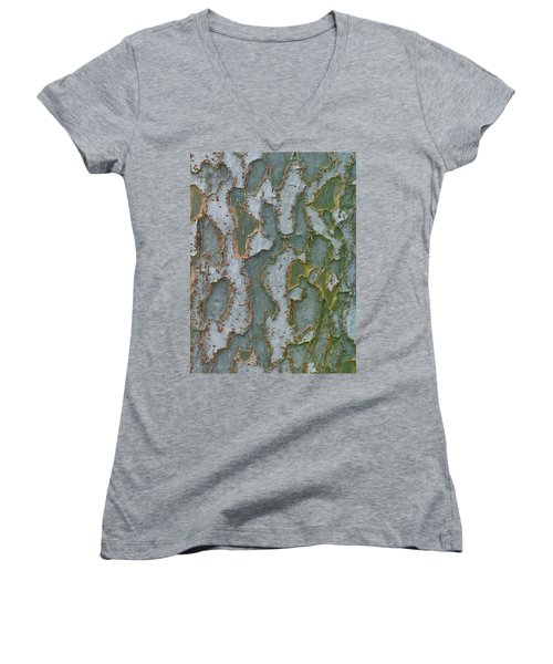 The Texture Is In The Trees3 Women's V-Neck T-Shirt