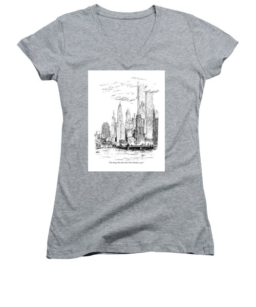 The Thing I Like About New York Women's V-Neck