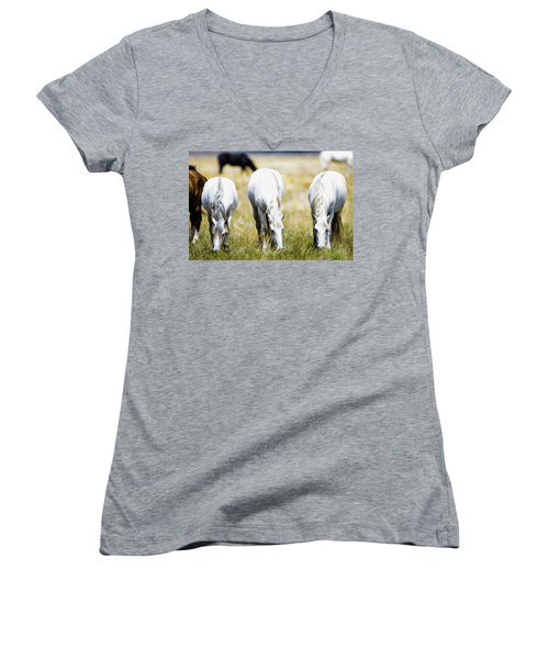 The Three Amigos Grazing Women's V-Neck T-Shirt