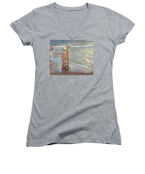 The Three Sisters On The Beach Women's V-Neck