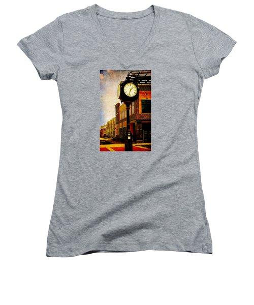 the Town Clock Women's V-Neck