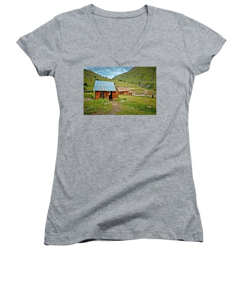 The Town Of Animas Forks Women's V-Neck (Athletic Fit)
