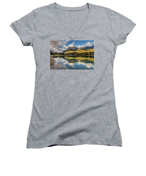 The Town Of Field In British Columbia Women's V-Neck T-Shirt (Junior Cut) by Pierre Leclerc Photography