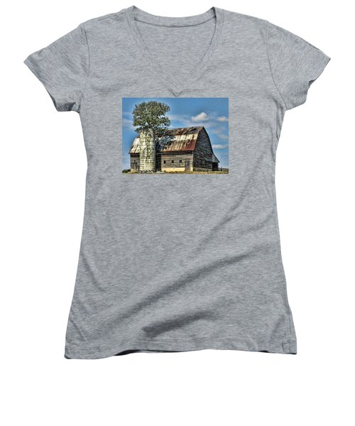 The Tree Silo Women's V-Neck T-Shirt