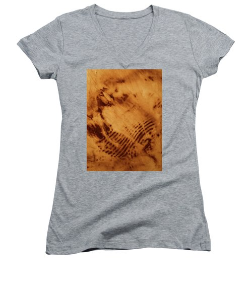 Women's V-Neck T-Shirt (Junior Cut) featuring the photograph The Tulip by Cynthia Powell