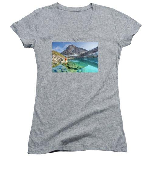 The Turquoise Lake Women's V-Neck