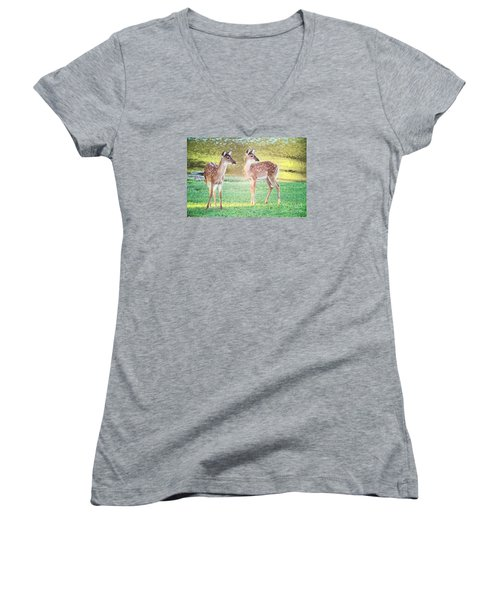 The Twins Women's V-Neck T-Shirt