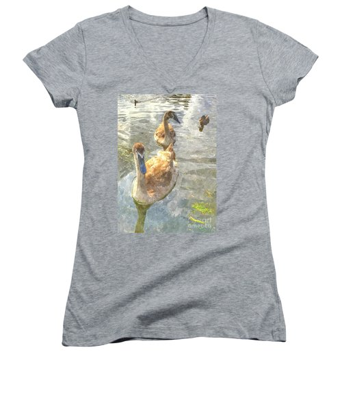 The Two Cygnets Women's V-Neck T-Shirt