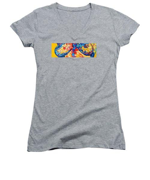 The Unknown Women's V-Neck T-Shirt (Junior Cut) by Ana Maria Edulescu