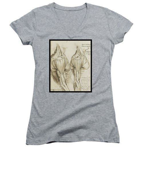 The Upper Arm Muscles Women's V-Neck T-Shirt (Junior Cut) by James Christopher Hill
