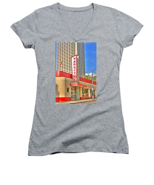 The Varsity Frontdoor Atlanta Georgia Landmark Art Women's V-Neck