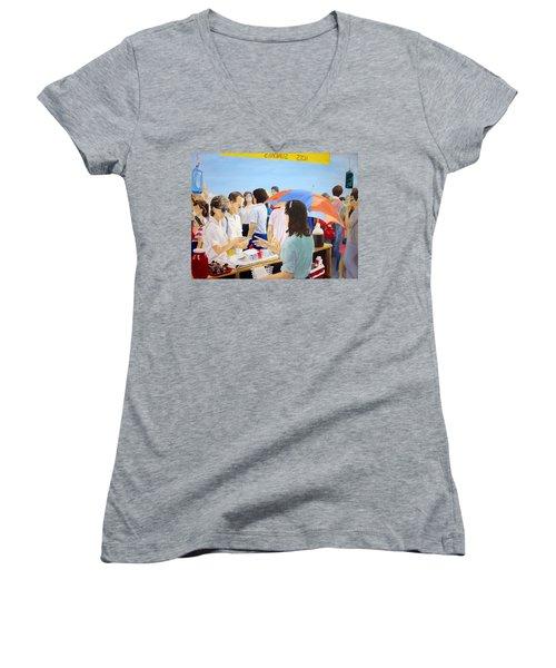 The Vendor Women's V-Neck T-Shirt