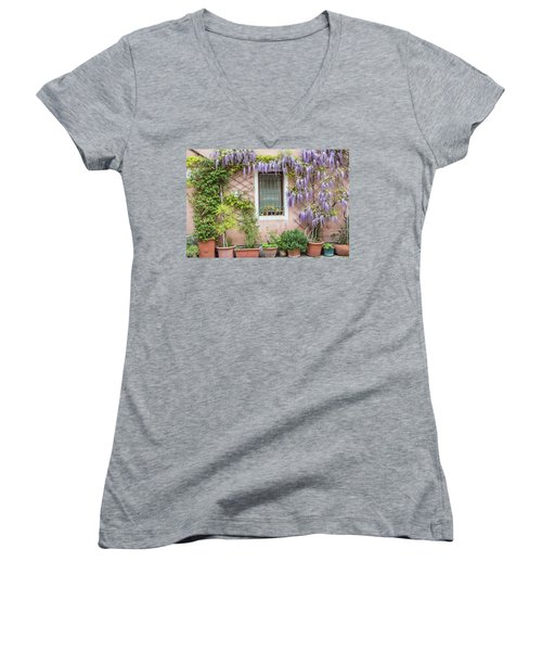 The Venice Italy Window  Women's V-Neck