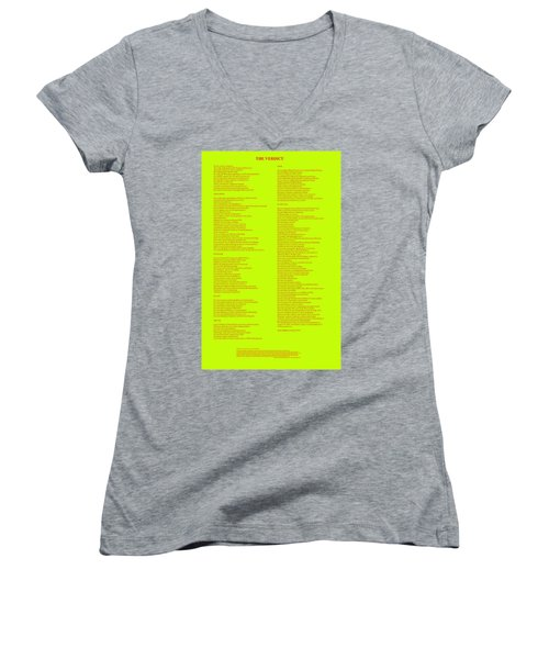 The Verdict Women's V-Neck