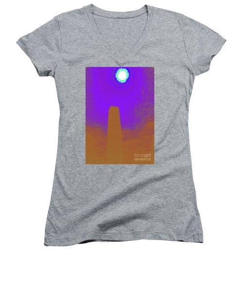 The View From Elsewhere Women's V-Neck T-Shirt (Junior Cut) by Jesse Ciazza
