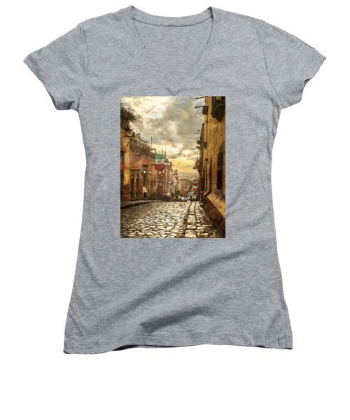 The View Looking Down Women's V-Neck (Athletic Fit)