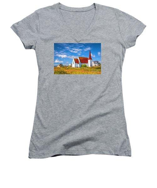 The Village Church Women's V-Neck T-Shirt