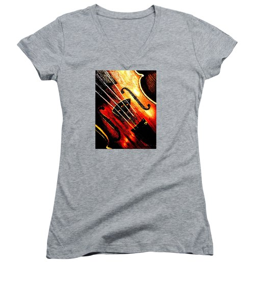 The Violin Women's V-Neck T-Shirt (Junior Cut)