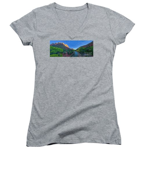 The Watchman Zion National Park Women's V-Neck